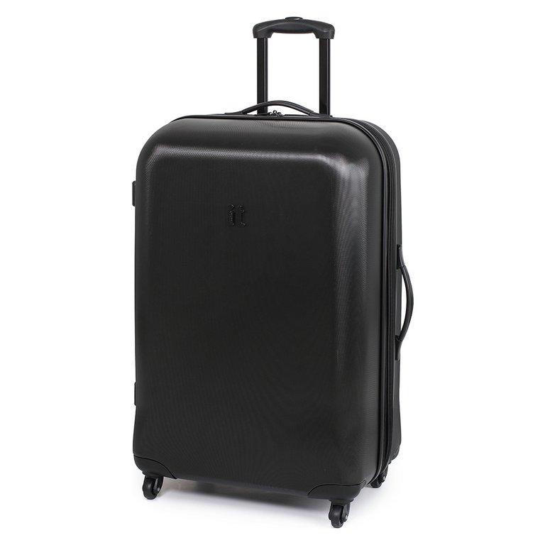 Buy IT Luggage Hard Expandable Large 4 Wheel Suitcase - Black at ...