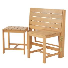 Argos Home Wooden Bench to Bistro Set