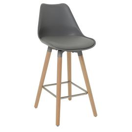 Argos Home Charlie Faux Leather Bar Stool - Grey
