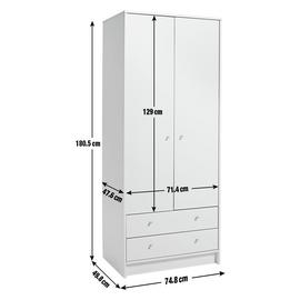 Argos Home Malibu 2 Door 2 Drawer Wardrobe