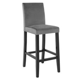 Argos Home Winslow Velvet Tall Bar Stool - Grey