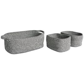 Habitat Salvador 3 Small Storage Baskets - Black & White