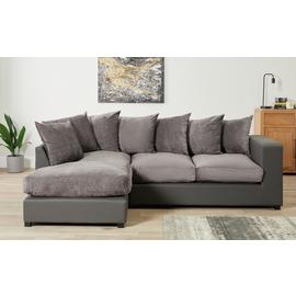 Argos Home Hartley Large Left Corner Fabric Sofa - Charcoal