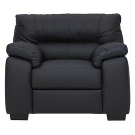 Argos Home Piacenza Leather Mix Armchair - Black