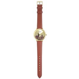 Harry Potter Hogwarts Castle Brown Leather Strap Watch