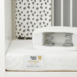 Mother&Baby Rose Gold AntiAllergy Sprung Cotbed Mattress