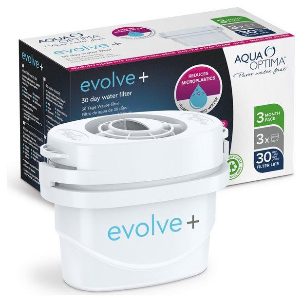 Aqua Optima Evolve Plus Water Filter Cartridges - Pack of 3
