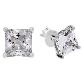 Revere Sterling Silver Square Cubic Zirconia Stud Earrings