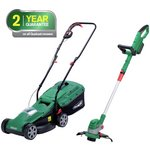 more details on Qualcast Cordless Lawnmower And Grass Trimmer - 24V.
