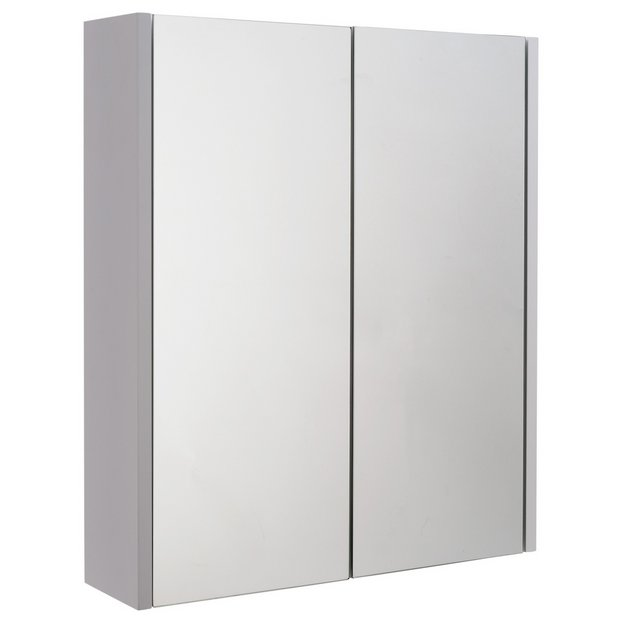 Buy home 2 door mirrored cabinet at your for Argos kitchen cabinets