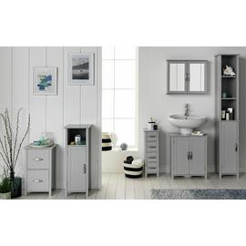 Argos Home Tongue & Groove Wall Cabinet - Grey