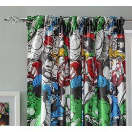 Marvel Comics Unlined Pencil Pleat Curtains