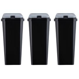 Argos Home Trio of Recycling Bins - Black