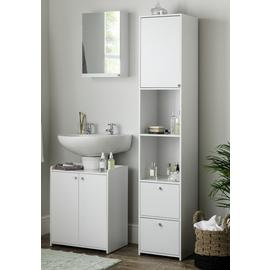 Argos Home Prime Single Mirrored Wall Cabinet