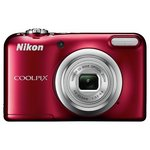more details on Nikon Coolpix A10 16MP 5x Zoom Compact Camera - Red.