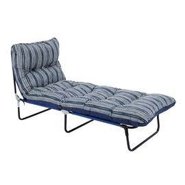Argos Home Metal Sunbed - Coastal Stripe