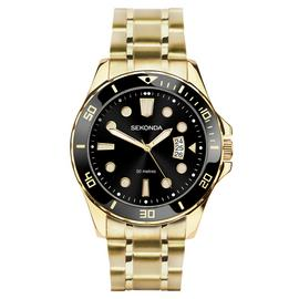 Sekonda Men's Gold Plated Stainless Steel Bracelet Watch
