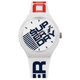 Superdry Men's White Silicone Strap Watch