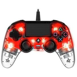 Nacon Official PS4 Wired Controller - Clear Red