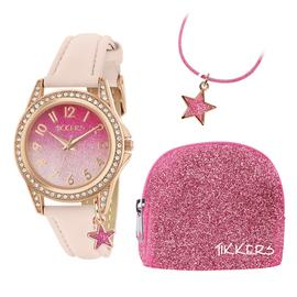 Tikkers Girls Watch, Necklace and Purse Gift Set