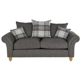 Argos Home Edison 2 Seater Fabric Sofa - Charcoal