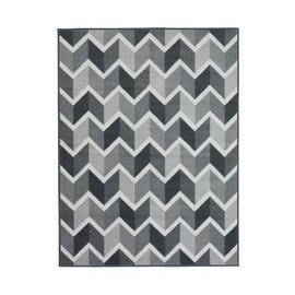 Homemaker Adorn Chevron Rug - 80x150cm - Grey