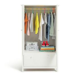 Argos Home Scandinavia 2 Door 1 Drawer Wardrobe - White