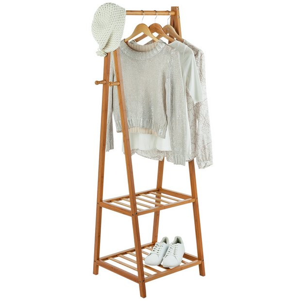 Buy collection belvoir bamboo clothes rail half size at your online shop for - Hanging clothes in small spaces collection ...