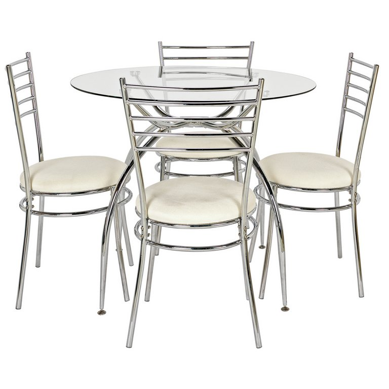 Buy HOME Lusi Glass Dining Table and 4 Chairs Cream at  : 4738684RSETMain768ampw620amph620 from www.argos.co.uk size 620 x 620 jpeg 40kB