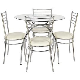 Argos Home Lusi Glass Dining Table & 4 Chairs