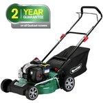 more details on Qualcast 46cm Wide Hand Push Petrol Lawnmower - 125Cc.