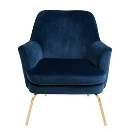Habitat Celine Velvet Accent Chair - Navy