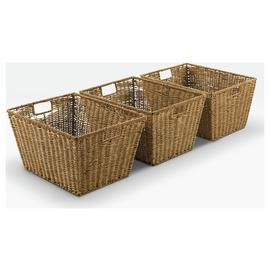 Argos Home Set of 3 Large Seagrass Storage Baskets - Natural