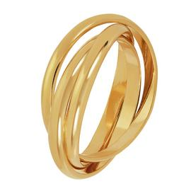 Revere 9ct Gold Plated Sterling Silver Three Band Ring