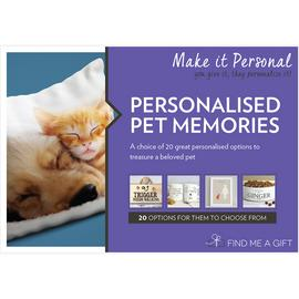 Personalised Pet Memories Gift