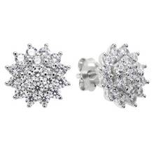 Revere Sterling Silver Cubic Zirconia Cluster Earrings