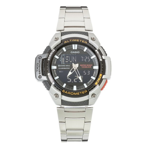 buy casio men s watches at argos co uk your online shop for more details on casio sport men s twin sensor combi bracelet watch