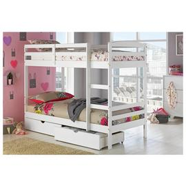 Argos Home Josie White Bunk Bed, Drawers & 2 Kids Mattresses