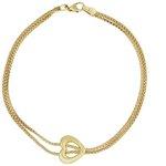 more details on Bracci 9ct Gold Two Strand Heart Popcorn Bracelet.