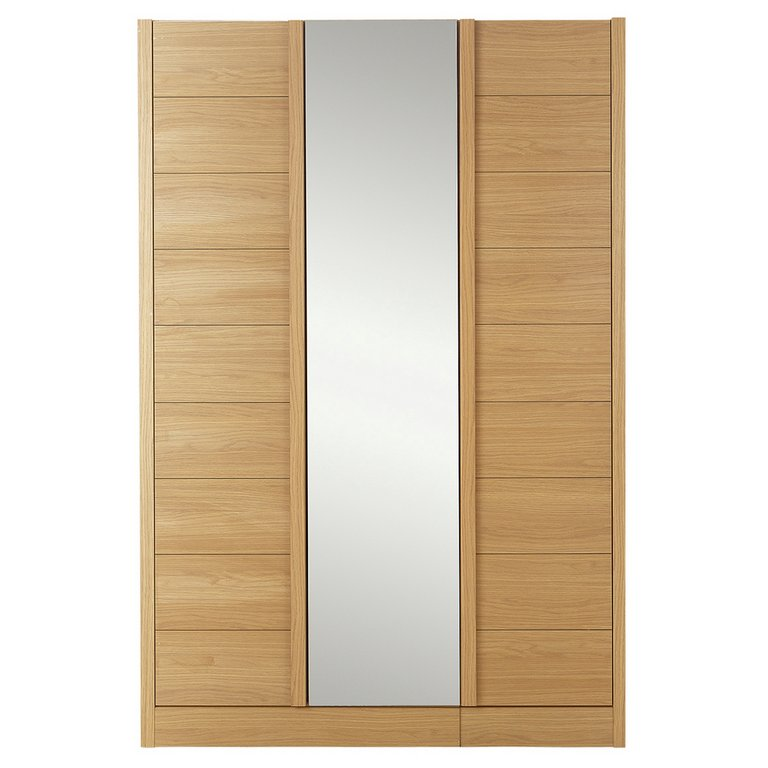 Buy Hygena Beijing 3 Door Mirrored Wardrobe Oak At Argos