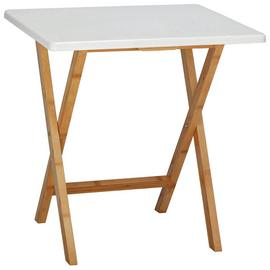 Habitat Drew Folding Bamboo 2 Seater Table - White