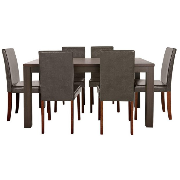 Buy HOME Pemberton Oak Veneer Dining Table 6 Chairs