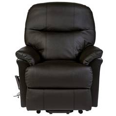 Lars Riser Recliner Single Motor Leather Chair -Dark Brown