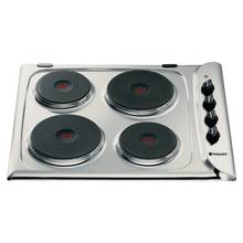 Hotpoint E604X Electric Solid Plate Hob - Stainless Steel