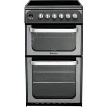 Hotpoint HUE52G Double Electric Cooker - Graphite