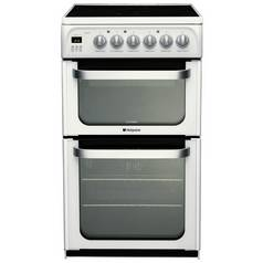 Hotpoint HUE53P Double Electric Cooker - White