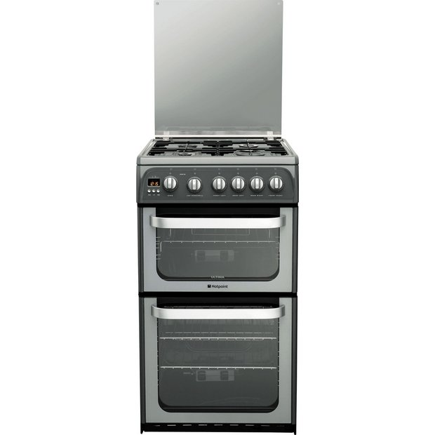 buy hotpoint ultima hug52g double freestanding gas cooker. Black Bedroom Furniture Sets. Home Design Ideas