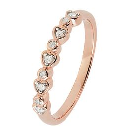 Revere 9ct Rose Gold Plated 0.05ct tw Diamond Heart Ring