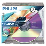 more details on Philips CD-RW Pack of 5 on a Spindle.