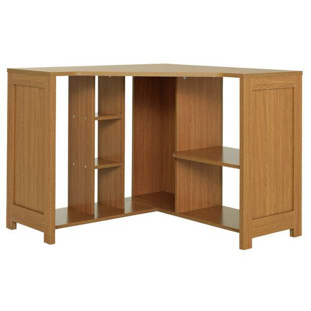 Buy Home Conrad Corner Desk Oak Effect At Your Online Shop For Desks And